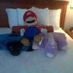 Housekeeping making the kids' toys comfy