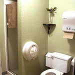 Centralized, private-use bathrooms