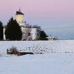West Usk Lighthouse Snow