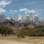  View of Mt Whitney, Eastern Sierras and Alabama Hills from near hotel