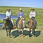 Riding out with Keith & LeAnne on their ranch.