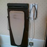  Iron, ironing board and trouser press