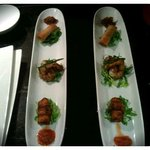  vegetable spring roll, angel on horseback