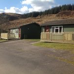 New decking outside the wee chalets