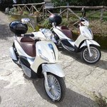  PIaggio Beverly 300. 4 days of fun riding around Amalfi