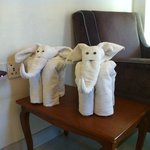 Adorable towel sculptures