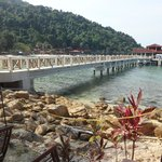the coral bay jetty which have direct access to the hotel lobby