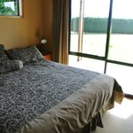 Large queen bed with beautiful view