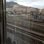  view of train line from room