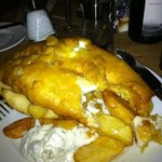  haddock and chips- gorgeous !