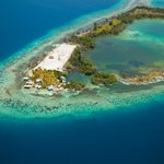  Tarpon Caye Belize aerial view