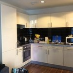 tiny kitchen on one bedroom apartment, nothing like the photos