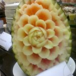 Beautiful fruit carving