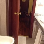 bathroom - bidet blocks door