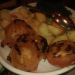  Grilled Tomatoes, Saute Potatoes &amp; Spinach