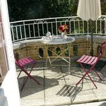 terrasse privative à la chambre Bovary