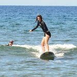  My daughter surfing w/Zack