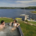 Hot tub overlooking the Bras d'Or Lake