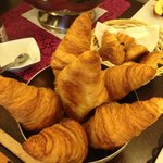 lovely presentation of croissant
