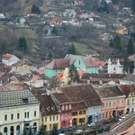  The hotel seen from the famous Clock Tower in the old town (the large Green building in the cent