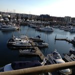 The view from room 411, overlooking the marina