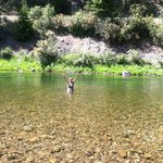 Crystal clear water along upper Joe