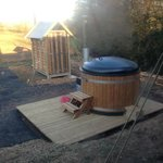 Frills hot tub and shower