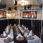  Private Area Decorated for Birthday