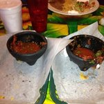 Salsa so incredibly good that the 4 of us practically inhaled it!! We bought some to bring home.