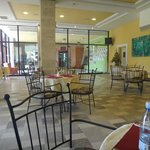  This is one of the cafes in the sister hotel
