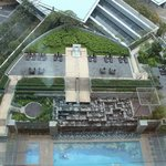 The swimming pool, as seen from the 18th floor