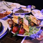 Meze and chicken wings at Asirlik Kebap.