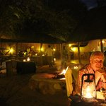Dining in the Boma under the stars