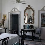  Period furnishings in dining room