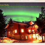 We took an amazing pic of Aurora in front of the guesthouse
