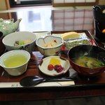  Very good traditional Japanese Breakfast served in the breakfast-room