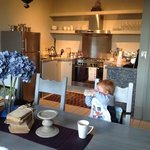 Our son amazed by his breakfast surroundings!