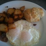 Eggs, Home Fries, Biscuit