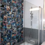  Even the bathroom was fun with comic book tiling