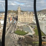 The Balmoral Hotel as seen from the Scott Monument