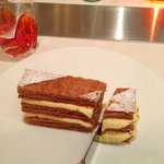 the best Mille-feuille; not so sweet as Laduree ; effortless cut