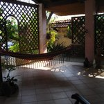 Hammock and seating area