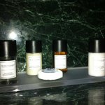 Nice spa toiletries