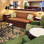  Our lobby is a comfortable space to work or relax.