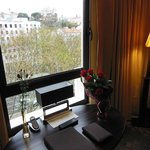 View from our suite and a nice welcome bouquet of red roses
