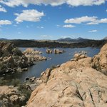 Watson Lake amongst the rocks - beautiful!
