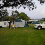 Camping at Blue Lake Holiday Park, Mount Gambier SA
