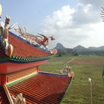  View of Buddha Mountain from Viharnra Sien