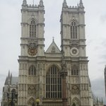 Westminster Abbey at end of the street
