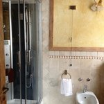 Stylish bathroom with steam / jet shower
